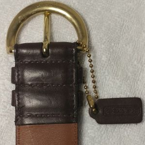 COACH ~ WOMAN'S MOCHA BROWN LEATHER DESIGNER BELT